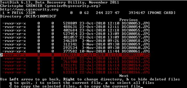 TestDisk-undelete